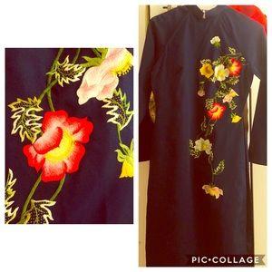 Handmade Japanese kimono dress long sleeve-size 0
